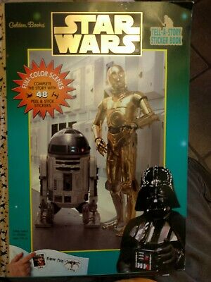 Vintage Star Wars Tell A Story Sticker Book - Golden Books Publishing