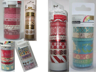 Recollections Washi Crafting Tape SEASONAL Valentine's Day Christmas u pick