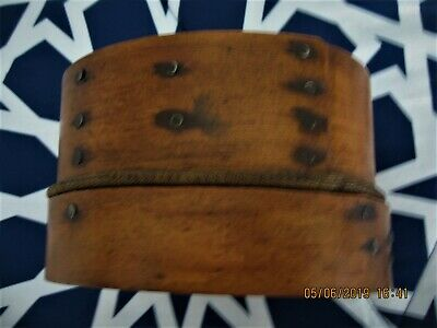 """Vintage Antique Handmade Bentwood Wooden Sifter Seive 4"""" x 6"""""""