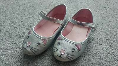 Girl's Size EUR 24 / UK 7 Primark Silver Glitter Mouse Shoes