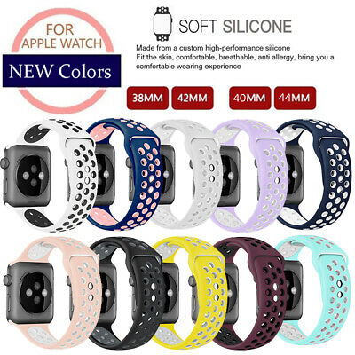 Replacement Silicone Sport Watch Band For Apple Watch 1/2/3/4 iWatch 38mm 42mm