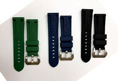 24mm Silicone/Rubber Strap/Band Buckle/Clasp for Officine Panerai Watch
