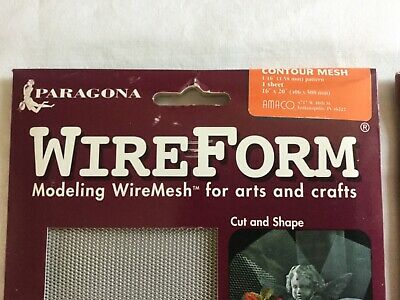 """AMACO WireForm Mesh 16""""x20"""" 2 packs -  Aluminum Contour and CopperForm Wire"""