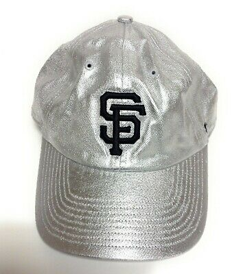 competitive price e680b fb86d Womens  47 Brand San Francisco SF Giants Silver Baseball Adjustable MLB Hat  Cap