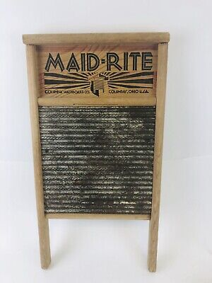 MAID RITE Washboard - Standard Family Size - #2072 - Made in Columbus, OH