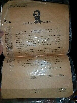 4 Vintage Documents of Freedom Authentic Reproductions on Antiqued Parchment