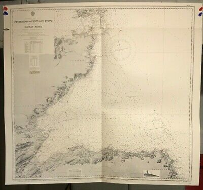 Scotland East Coast Navigational Chart / Hydrographic Map # 115, Pentland Firth