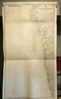Spain / Portugal Navigational Chart / Hydrographic Map # 1752 Iberian West Coast