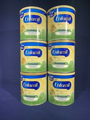 Enfamil ProSobee Soy-Based Infant Formula Powder 12.9 oz Lot of 6 Exp 2019 2020