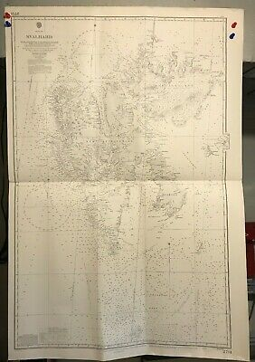 Arctic Sea Svalbard Navigational Chart / Hydrographic Map # 2751, National Parks
