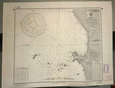 Peru South America Navigational Chart / Hydrographic Map # 983, Pescadores Group