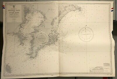 Japan Honshu Navigational Chart / Hydrographic Map # 3360, South Coast, Toyko