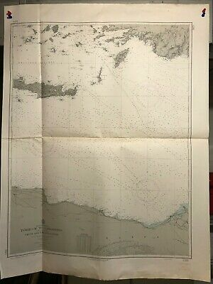 Mediterranean Sea Navigational Chart / Hydrographic Map # 3925, Egypt, Crete
