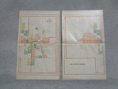 Atlas Plat Maps City Of Ripon WI Dated 1910 Antique Original