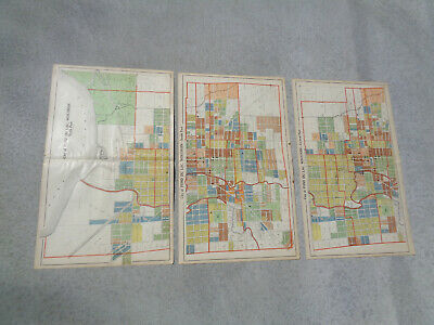 Atlas Plat Maps City Of Fond du Lac WI Dated 1910 Antique Original