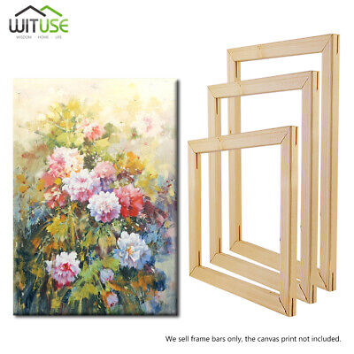 Solid Wooden Canvas Stretcher Frames Bars Strips For Prints Oil Painting Art Diy