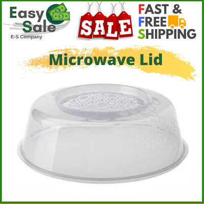 Ess Microwave Plate Cover Magnetic Hover Splatter Lid Foods Table BPA-Free Home