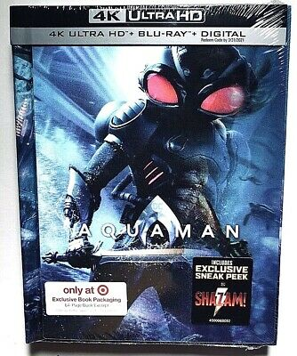 New Aquaman 4k Ultra Lenticular Cover Blu Ray  DC Target Exclusive Digibook