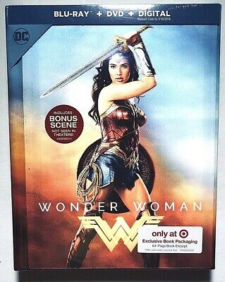 Wonder Woman Lenticular Cover Blu Ray Dvd Digital HD Target Exclusive Digibook
