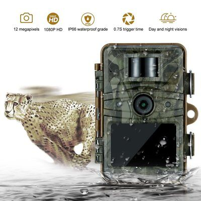 1080p 12MP Wildlife Hunting Trail Scouting Game Camera Night Vision 0.7s Trigger