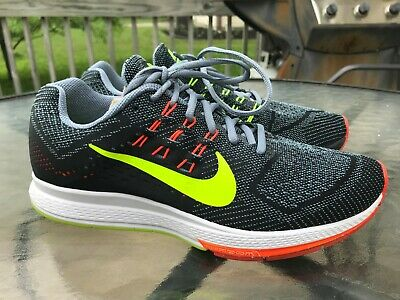 26bda1e99c0a3 Nike Air Zoom Structure 18 Running Shoes Grey/Volt/Black/Crimson 683731 Size