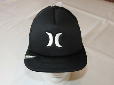 5766a8ff8f Hurley Aerobill Cap Hat Mens adult surf skate Black White one size MHA007180