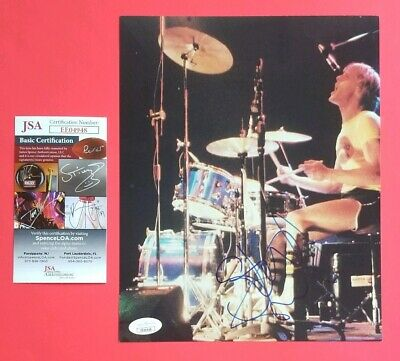 """THE POLICE STEWART COPELAND SIGNED 8"""" X 10"""" COLOR PHOTO WITH JSA COA psa Sting"""