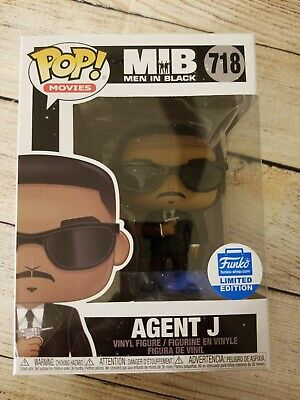Funko Pop Agent J with Cricket Funko Shop Exclusive. MIB Men in Black. Good box