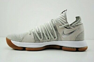 Nike Zoom KD10 NFS Mens Size 13 Kevin Durant Gray Silver Gum White CD6455 001