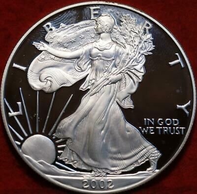 Uncirculated Proof 2002 American Eagle Silver Dollar