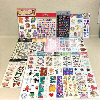 Huge Lot Of Vintage Stickers 80's-90's - Mrs. Grossman Sandylion Hallmark Etc.