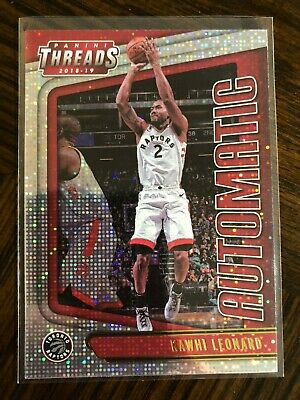 2018/19 Panini Threads KAWHI LEONARD Automatic Insert Dazzle SP Mint Raptors
