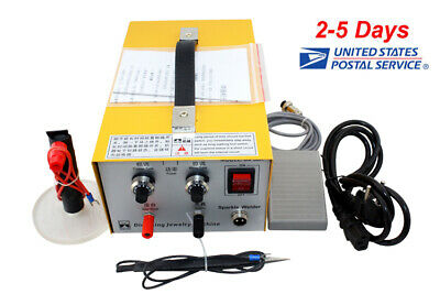 Portable Pulse Sparkle Spot Welder Jewelry Welding Machine Gold Silver Platinum