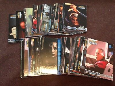 Star Trek Deep Space Nine Memories from the Future Trading cards - 90 different