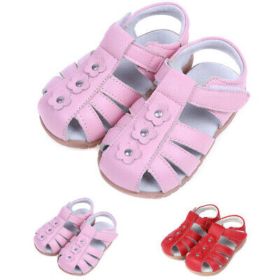 Children's Girls Leather Solid Sandal Summer Comfortable Breathable Casual Shoes