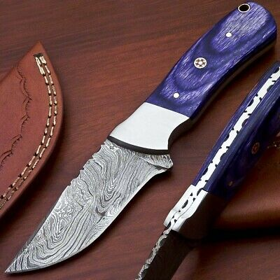 Hand Forged Damascus Steel Full Tang Knife-Hard Wood Handle-C-3187