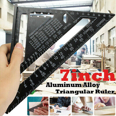 "7""/12"" Aluminum Roofing Tri-square Ruler Rafter Angle Frame Measuring Carpenter"