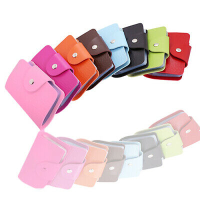 Women's Business ID Credit Card Wallet Cash Holder Organizer Case For 24 Cards F