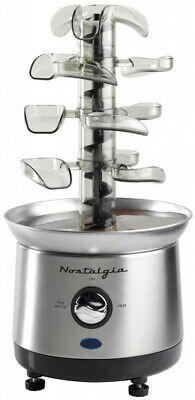 3-Tier Cascading Fondue Fountain Auger-Style with Stainless Steel Base, BPA Free