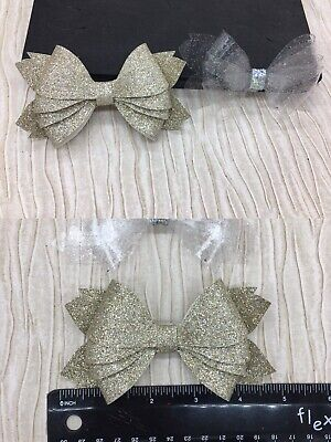 Wooden Large hair bows cutting dies chunky glittery For Sizzix big shot plus