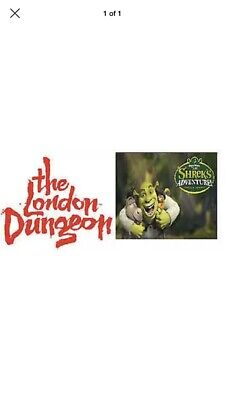 2 X Tickets For Either SHREK'S Adventure London Or The London Dungeon