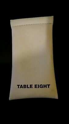 Table Eight White Sunglasses Case