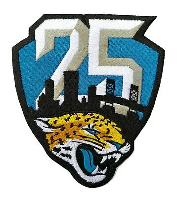 🏈NEW! 2019 JACKSONVILLE JAGUARS 25th Anniversary Iron-on Football Jersey PATCH!