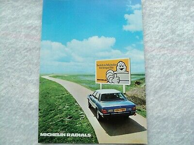 Michelin Radials Ford Cortina Mk4 Ghia Poster Advert Ready Frame A4 Size E
