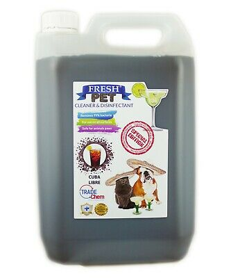 Fresh Pet Kennel Disinfectant Cocktail Set - Prefilled 5L Cuba Libre
