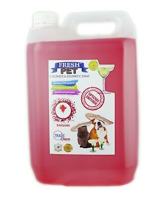 Fresh Pet Kennel Disinfectant Cocktail Set - Prefilled 5L Strawberry Daiquiri