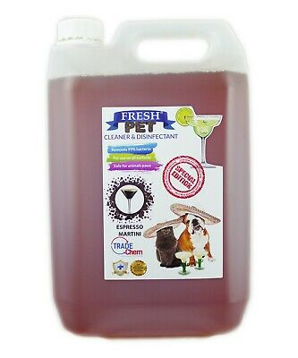 Fresh Pet Kennel Disinfectant Cocktail Set - Prefilled 5L Espresso Martini
