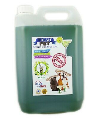 Fresh Pet Kennel Disinfectant Cocktail Set - Prefilled 5L Mojito