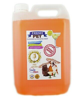 Fresh Pet Kennel Disinfectant Cocktail Set - Prefilled 5L Pina Colada