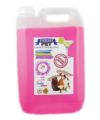 Fresh Pet Kennel Disinfectant Cocktail Set - Prefilled 5L Pink Gin